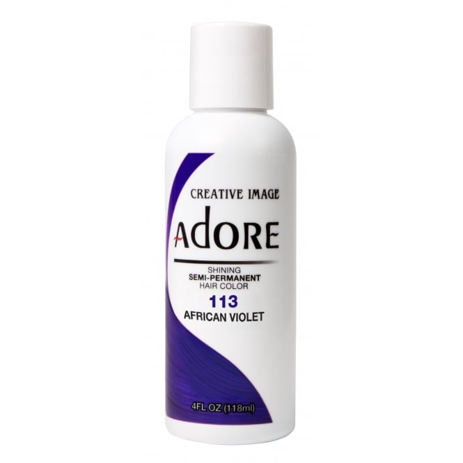 Adore Shining Semi Permanent Hair Colour 113 African Violet 118ml