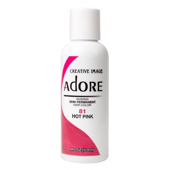 Adore Shining Semi Permanent Hair Colour 81 Hot Pink 118ml