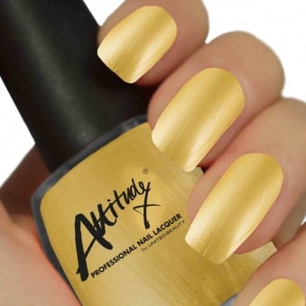 Attitude Gel Nail Polish Colour: Opulent Gold 15ml