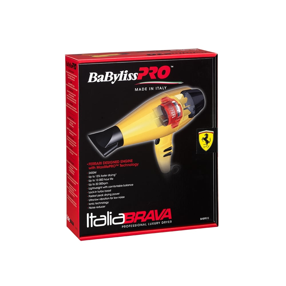 Babyliss Pro Babyliss Pro Italiabrava Brushless Ferrari Motor Hair Dryer Yellow 2400w Hair From Hsnf Ltd Uk