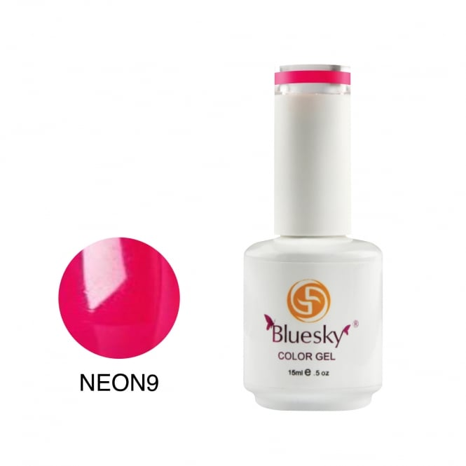 Bluesky Nail Gel Polish Soak OFF UV LED 15ML 9 09 Colour Neon Party Pink