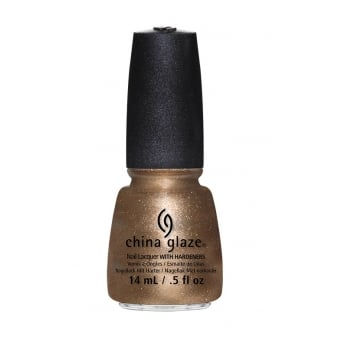 China Glaze Goldie But Goodie Nail Polish with Hardeners 14ml