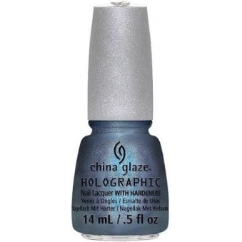 China Glaze Holographic Sci Fly By Nail Polish with Hardeners 14ml