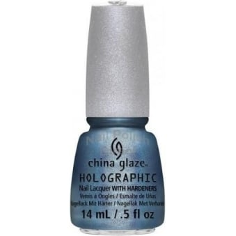 China Glaze Holographic Take A Trek Nail Polish with Hardeners 14ml