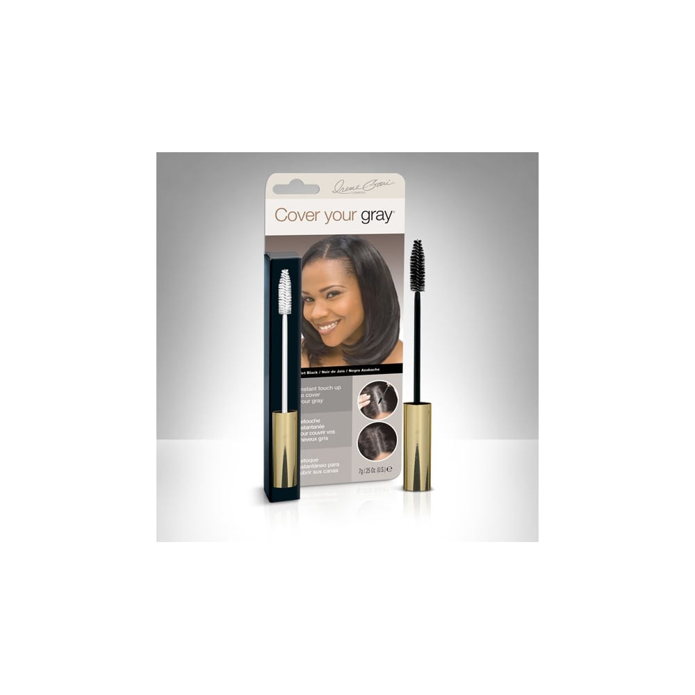 Cover Your Gray Brush In Wand Jet Black Hair Colour Fill In