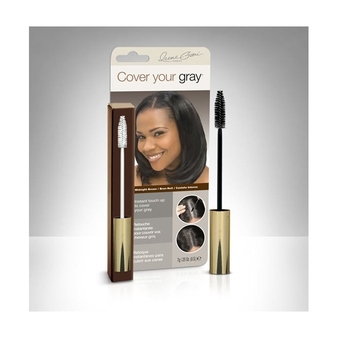 Cover Your Gray Brush In Wand - Midnight Brown Hair Colour Fill In Maskara