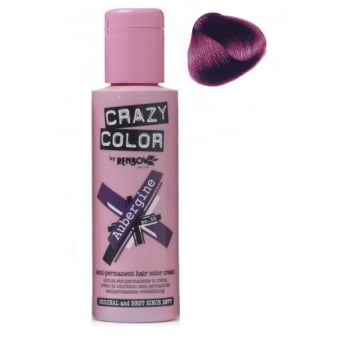 Crazy Color Semi Permanent Hair Tint Aubergine 50 100ml