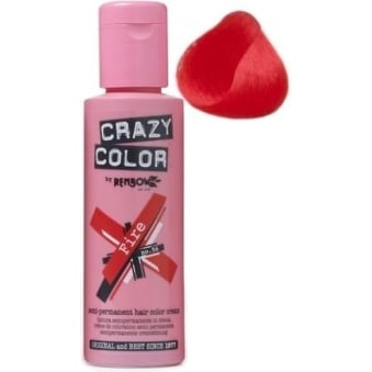Crazy Color Semi Permanent Hair Tint Fire 56 100ml