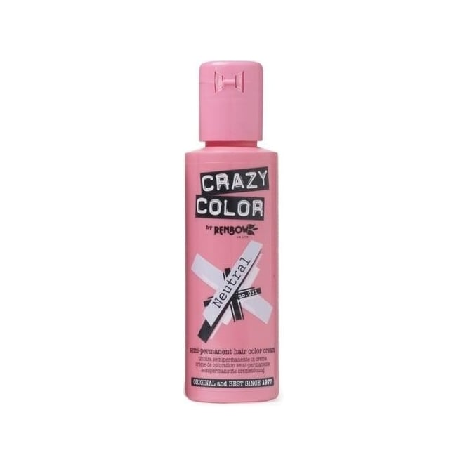 Crazy Color Semi Permanent Hair Tint Neutral 31 Colour 100ml