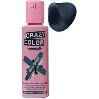 Crazy Color Semi Permanent Hair Tint Pine Green 46 100ml