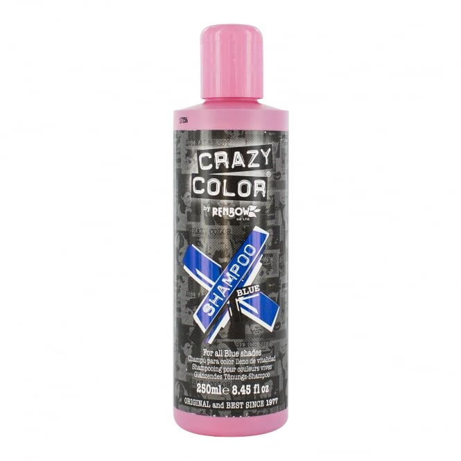 Crazy Color Vibrant Shampoo by Renbow - Blue (For Coloured Hair) 250ml