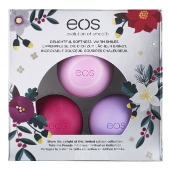 EOS Limited Winter Edition Trio Lip Balm Set 7g (Apple, Wildberry, Passion Fruit)