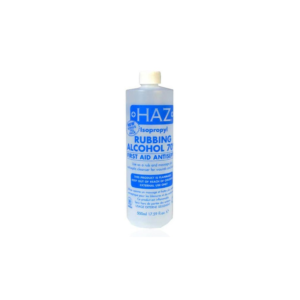 HAZ 70% Isopropyl Rubbing Alcohol 500ml - Nails from Just Beauty UK