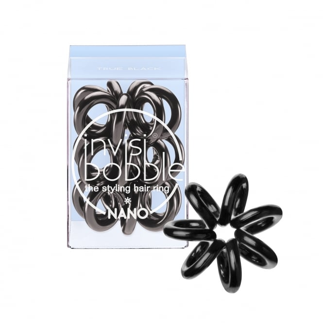 Invisibobble Nano Traceless Hair Ring & Band True Black Pack Of 3