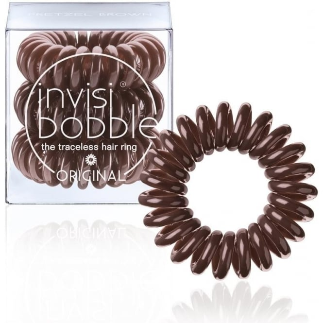 Invisibobble Original Traceless Hair Ring & Band Pretzel Brown Pack Of 3