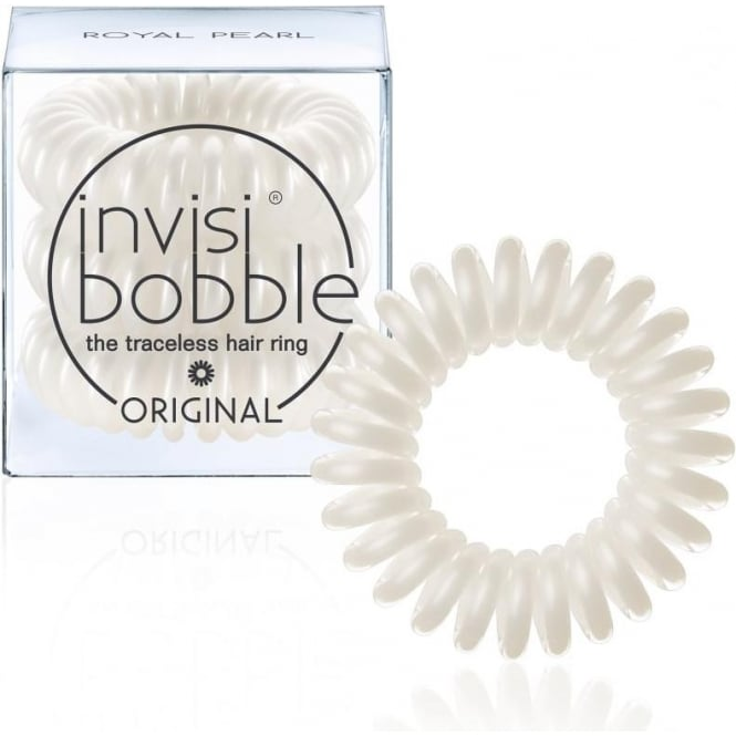 Invisibobble Original Traceless Hair Ring & Band Royal Pearl Pack Of 3