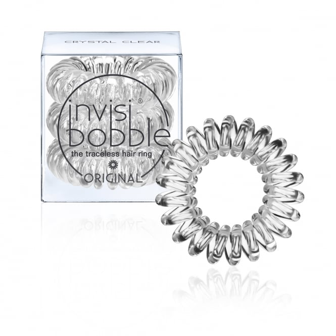 Invisibobble Orignial Traceless Hair Ring & Band Crystal Clear Pack Of 3