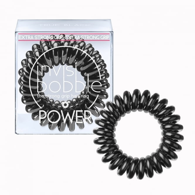Invisibobble Power Traceless Hair Ring & Band True Black Pack Of 3