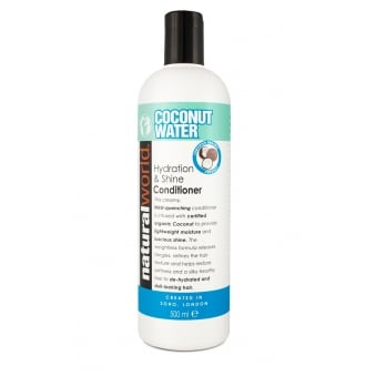 Natural World Coconut Water Hydration and Shine Conditioner 500ml Hydrate Shine