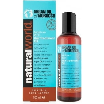 Natural World Moroccan Argan Oil Moisture Repair Hair