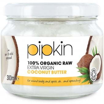 Pipkin Pure Organic Raw Extra-Virgin Coconut Butter 300ml