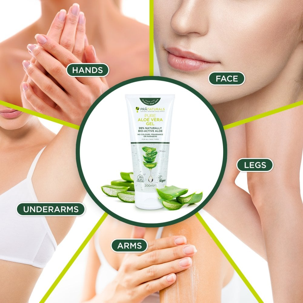 is aloe vera gel good for face