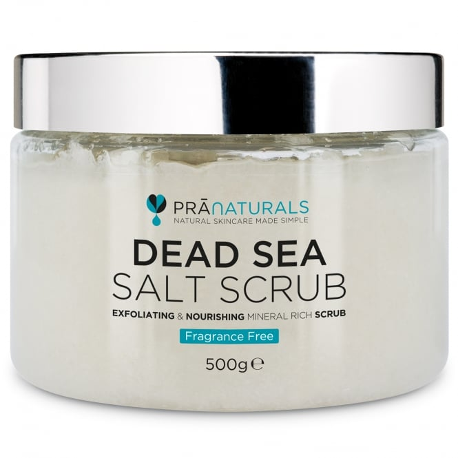 PraNaturals Dead Sea Salt Scrub (Fragrance Free) 500g