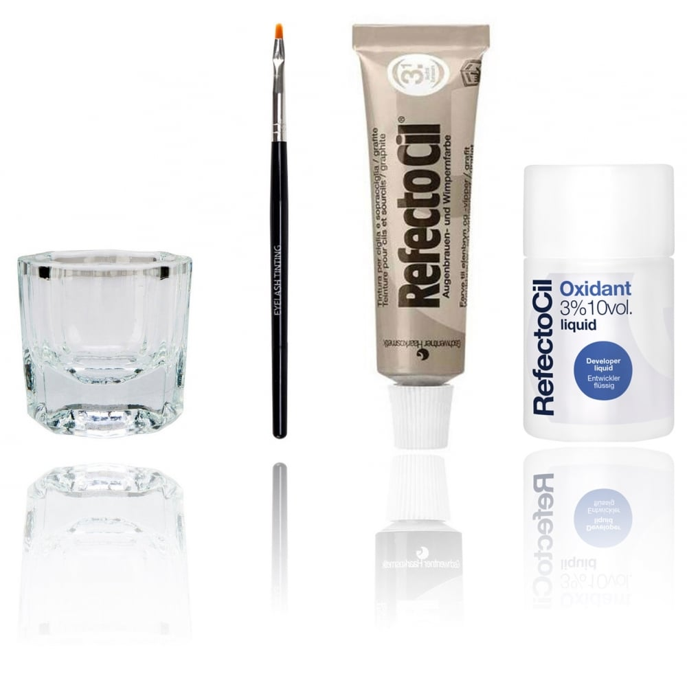 Refectocil Professional Eyelash Eyebrow Tinting Dye Kit Includes