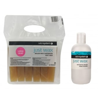 Salon System 6 Pack Roller Wax Cartridgres And Cleaner