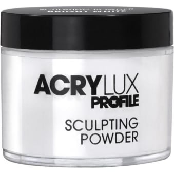 Salon System Acrylux Sculpting Powder Bright White 45g Acrylic Nail Extensions