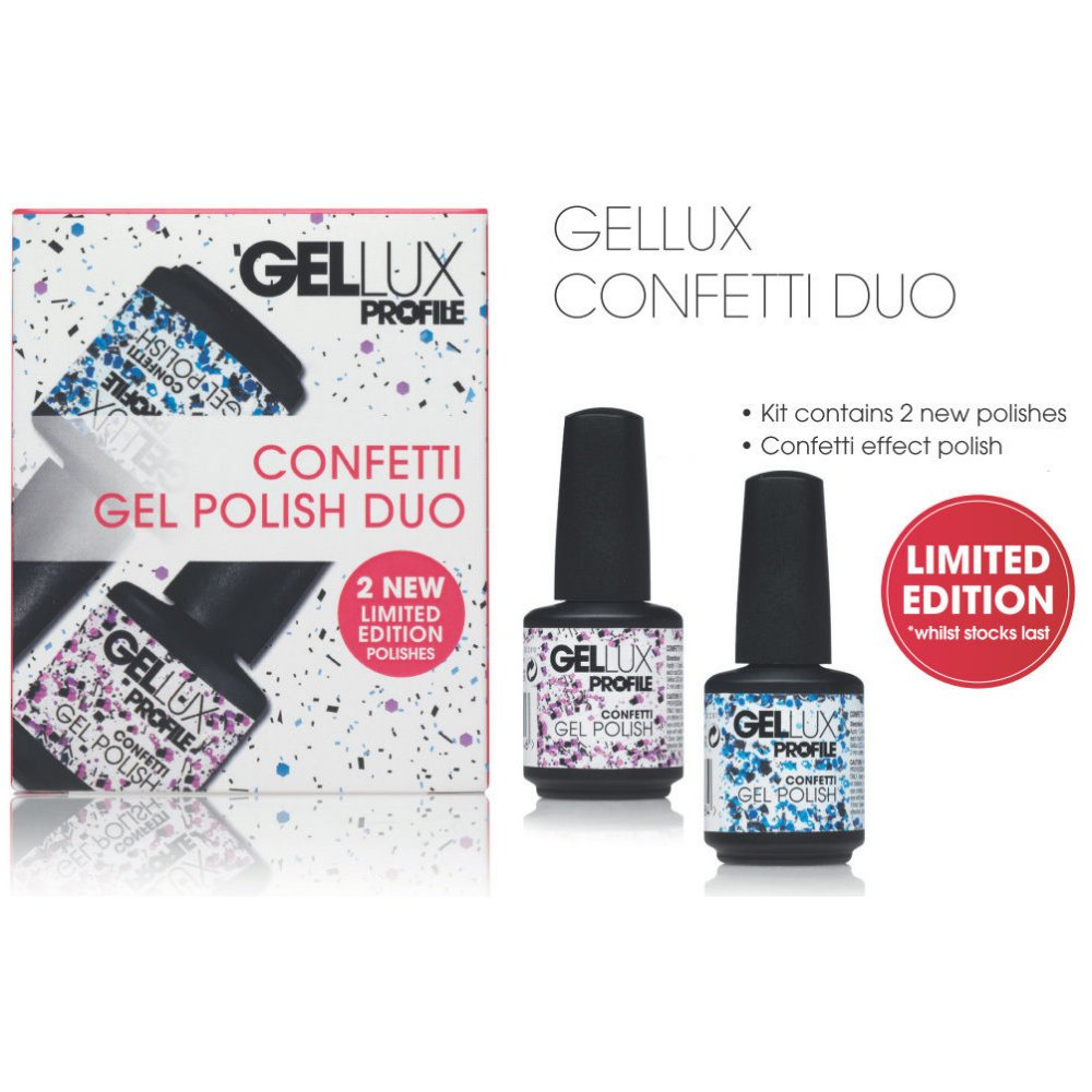 Salon System Gellux Confetti Duo Gel Nail Polish - Nails from Just ...