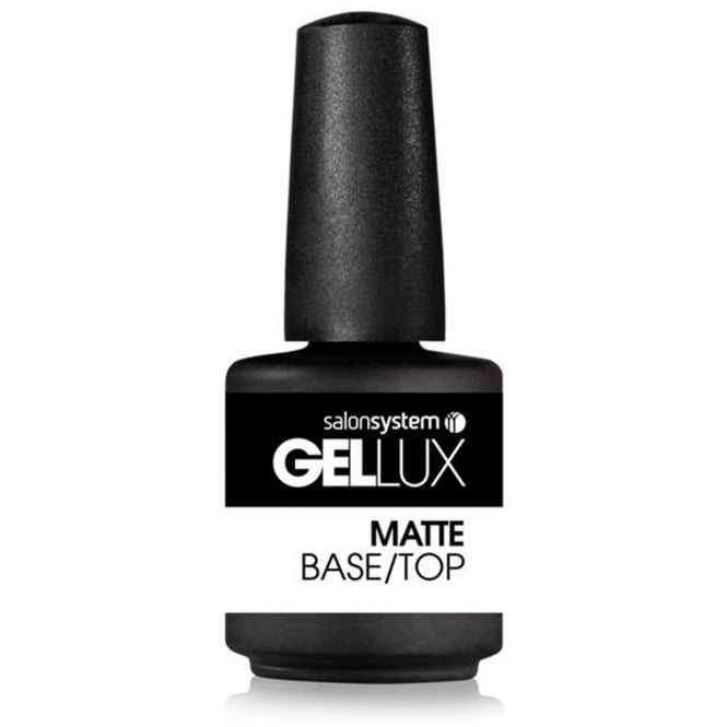 Salon System Gellux Gel Nail Polish Matte Base/Top Coat 15ml