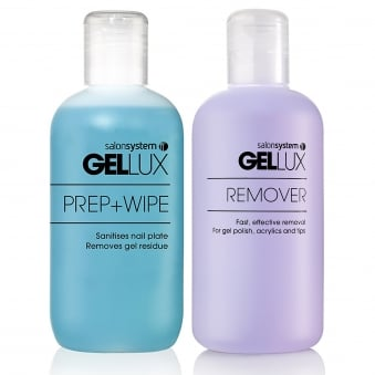 Gellux Uv Led Gel Nail Polish Prep + Wipe Off + Nail Gel Rem