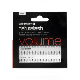 Salon System Individual Lash Effect - VOLUME Black, Short