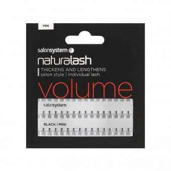 Salon System Individual Lash False Eyelashes Volume Short - Black Mini (0225105)