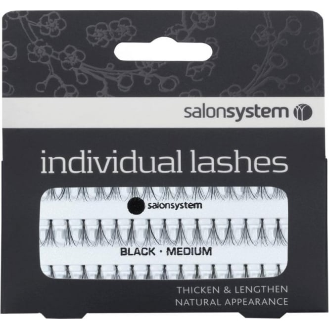 Salon System Individual Medium Black Lashes