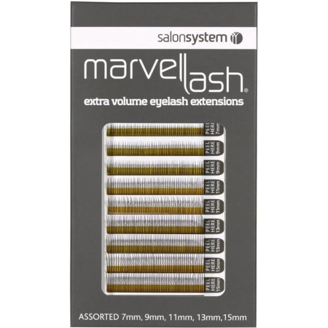 Salon System Lash Extensions 0.20 Assorted Black (620) Individual False Lashes