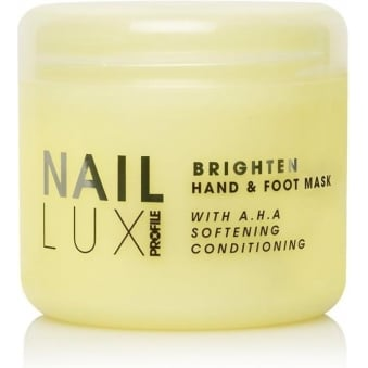 Salon System Naillux Brighten Hand & Foot Mask Shea Butter Sweet Almond Oil