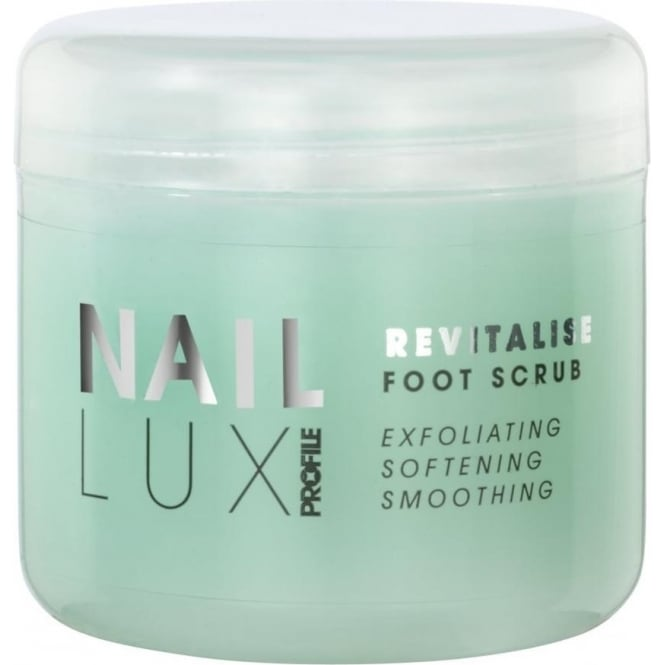 Salon System NailLux Revitalise Foot Scrub 300ml Exfoliating Granules Salt & Sugar