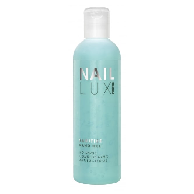 Salon System NailLux Sanitise Hand Gel 250ml Antibacterial Cleanse & Condition