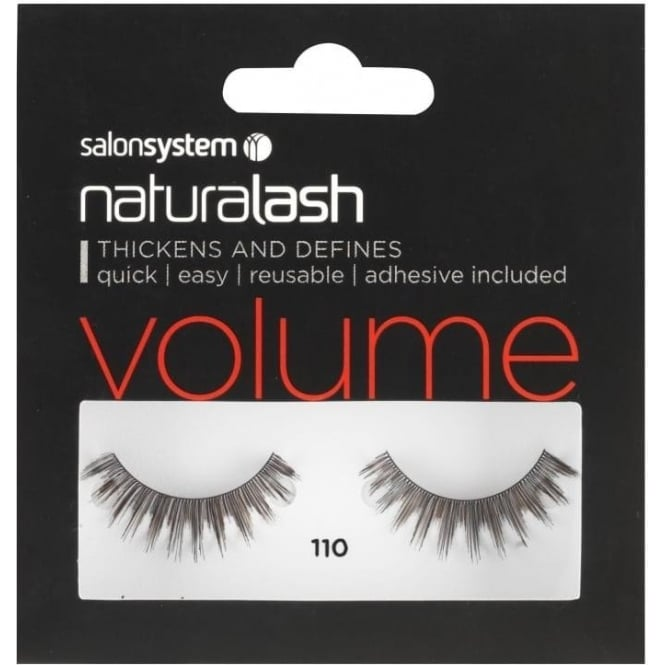 Salon System Naturalash 110 Black (volume) Adhesive Included False Strip Lashes