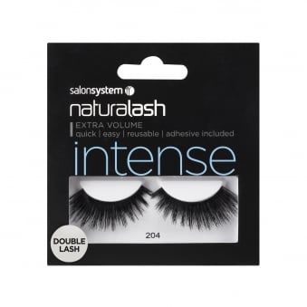 Salon System Naturalash 204 Black Double Intense Lash False Eyelashes (0225406)