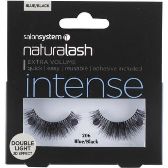 Salon System Naturalash 206 Blue/Black Double Lights (intense) Adhesive Included