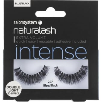 Salon System Naturalash 207 Blue/Black Double Lights (intense) Adhesive Included