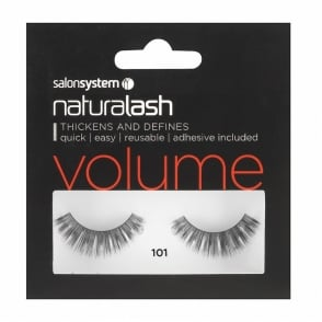 Salon System Naturalash Re-Usable 101 Black Eyelashes