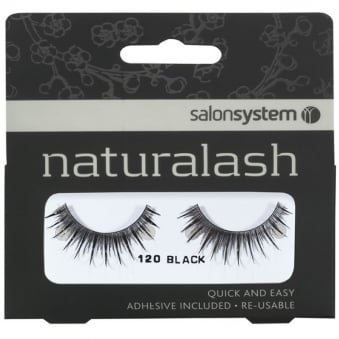 Salon System New Re-Usable 120 Black Eyelashes