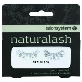 Salon System Re-Usable 020 Black Eyelashes