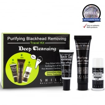 SHILLS Purifying Blackhead Removing Travel Kit Set (Softener, Black Mask, Toner)