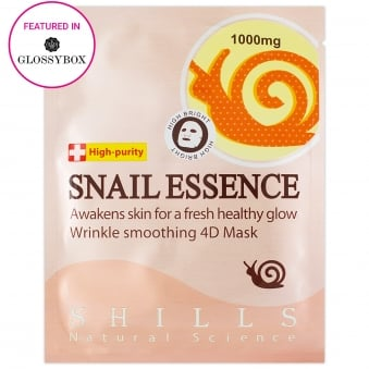 SHILLS Snail Essence Face Mask for Healthy Glow & Wrinkle Smoothing