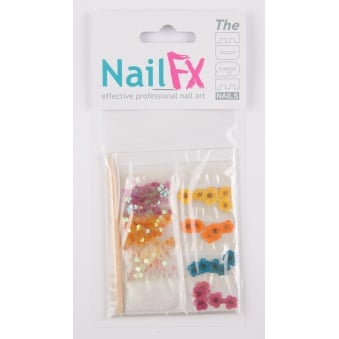 The Edge Nails Deco Set Flower/Dust/Flatstones Nails Decoration Nail Art Kit